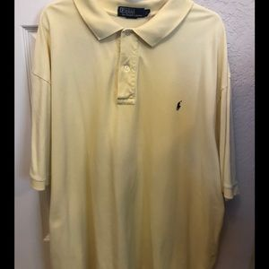 👕 Men's Light Yellow Ralph Lauren Polo Shirt